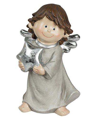 Engel Dekoengel Schutzengel mit Stern Engelfigur Skulptur Weihnachts Deko Figur