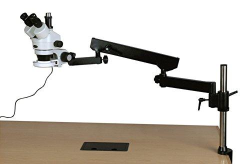 3,5X -225X simul-Focal 144-led Gelenkige Zoom Stereo Mikroskop + 5MP Kamera