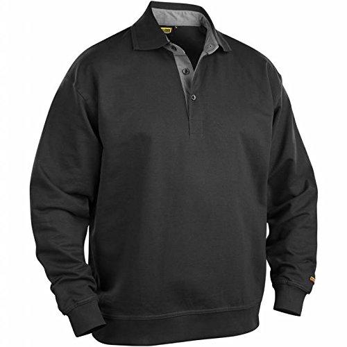 Blakläder 337011589900XL Pullover mit Kragen Größe XL in schwarz, -