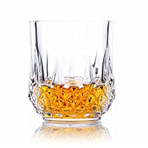 Anshika Traders Glass Drinking Glass Set – 6 Pieces, Clear, 300ml