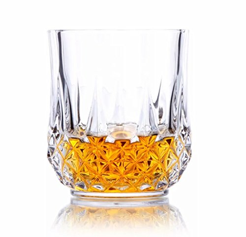 glassware glasses set of 6 300 ml juice glasses set & drinking glass set glasses set water glasses (whiskey glasses set) kitchen & dining wine glass drinkware