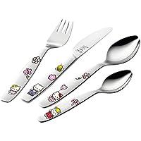 Zwilling 07133-210 - Cubiertos para niños, 4 piezas, diseño Hello Kitty