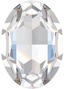 RAYHER 14378120Swarovski Crystal Cut Oval Hoop Earrings–30x 22mm, Moonstone