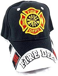 U.S Fire Department - Casquette brodée embleme des Pompiers americain - Noir - Taille Unique