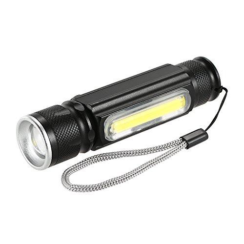 Lixada USB 180LM Taschenlampe mit Magnet Handy LED Taschenlampe wiederaufladbare Taschenlampe Blitz Licht Tasche LED Zoom Lampe.