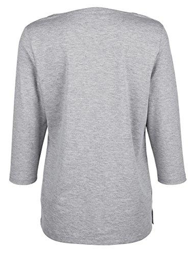 Damen Shirt mit exklusivem Druck im Vorderteil by Laura Kent rosé/beige/grau  ...