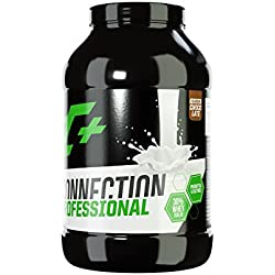 ZEC+ WHEY CONNECTION Eiweiß-Drink | mit 30% Whey Isolat Molkenprotein | Verdauungsenzymen Papain und Bromelain | Probiotischen Milchsäurebakterien | Geschmack Schokolade 1 kg
