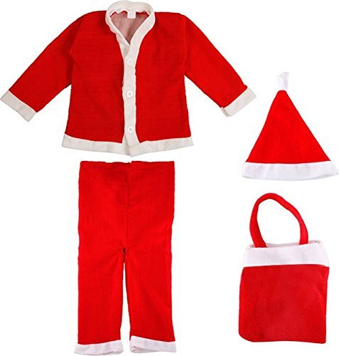 Ote Christmas Santa Claus Fancy Dress Costume For Xmas Party For Boy Girl Kids Child (1-2 Years) - Multi Color
