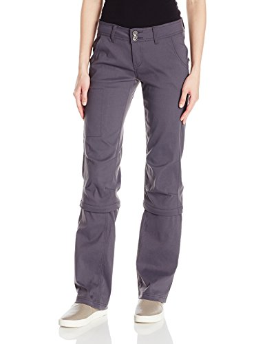 Prana Halle Convertible Pant - Hoch, Damen, Halle Convertible Pant - Tall, anthrazit, 6 Tall Inseam - Prana Convertible Pants