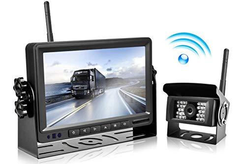 """Digitales drahtloses Rückfahrkamera System, Podofo 7 \""""LCD-drahtloser Rückfahrmonitor + IP69 imprägniern Rückansicht-Kamera für Bus / Anhänger / RV / Wohnmobil / Boot / Auflieger / Pferdeanhänger"""