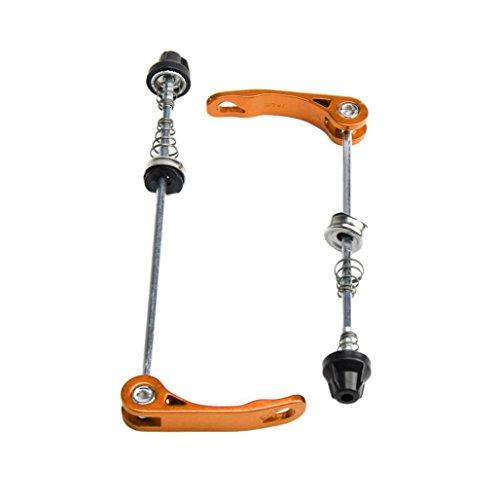 Hunpta 1 paar Fahrrad Fahrrad Radfahren Rad Nabe Spieße Schnellverschluss Hebel Achse Schraubensatz (Gold)