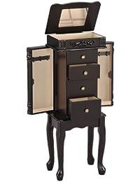 Acme muebles Tiana joyería Armoire–estilo tradicional–amplios cajones–Queen Anne patas–acabado Espresso marrón