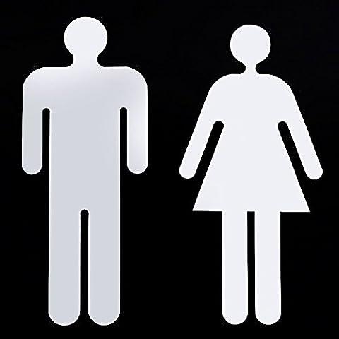 Badezimmer Männer und Frauen Anmelden 3D-Spiegel, an der Wand Aufkleber Dekoration