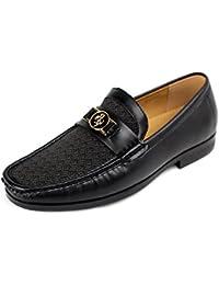 Caballeros Vestido Casual Zapatos Inteligente Oficina Deslizante Trabajo Fiesta Estilo - Negro, 45