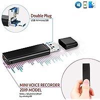 Grabadora de Voz Con Conector Directe para Smartphone  Batería de 26 Horas   Capacidad de Grabación: 94 Horas   8GB Unidad Flash USB   lightREC por aTTo Digital