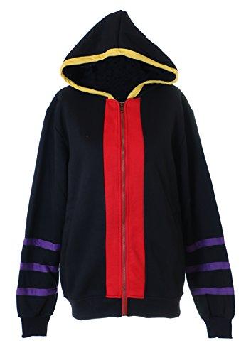 (Kawaii-Story TA-60 Assassination Classroom Koro Sensei Kapuzen Sweatshirt Schwarz Pullover Hoodie Cosplay (XL))
