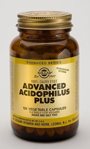 Solgar-Advanced Acidophilus Plus (Non-Dairy): 120 Vegetable Capsules