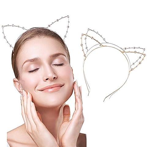 Costumes De Danse Rhinestone Designs - Loaver Lot de 2Cristal oreilles de chat