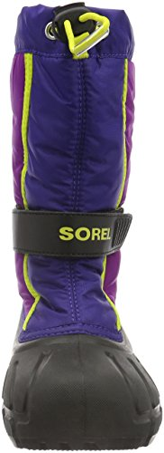 Sorel Youth Flurry, Bottes mixte enfant Bleu (Grape Juice/Bright Plum 484)
