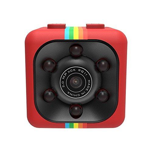 WEIHUIMEI SQ11 1080P Mini Cámara, Cámara Deportiva Cámara HD Videocámara Visión Nocturna Miniatura, Cámara Oculta Miniatura