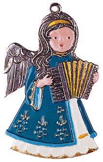 Zinnfigur Engel mit Harmonika