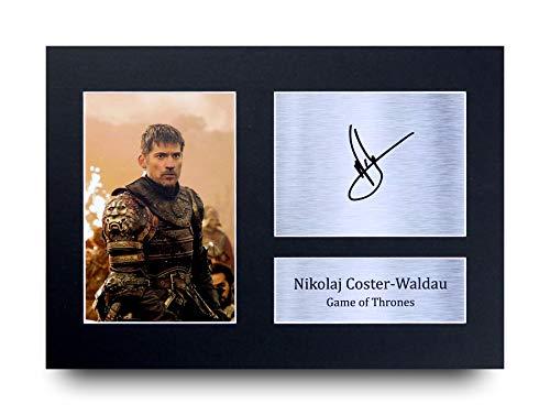 HWC Trading Nikolaj Coster-Waldau A4 gedrucktes Autogramm Game of Thrones