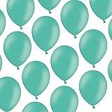 50 Luftballons - 23 cm - Pastell Aquamarine - Formstabil - Kleenes Traumhandel®