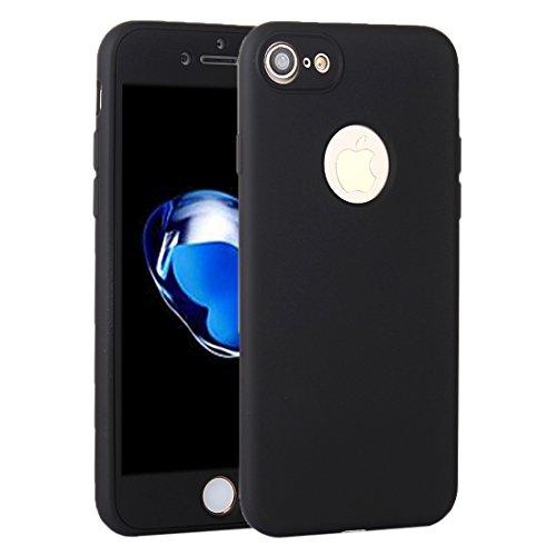 Suyan para el iPhone 7360gradi di olio a prova di urti Silicone Back Case + PC Copertura combinazione caso Protector nero