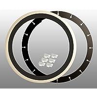 Bianco da parete anelli (4pezzi), 15pollici nero–bianco + TÜV certificato