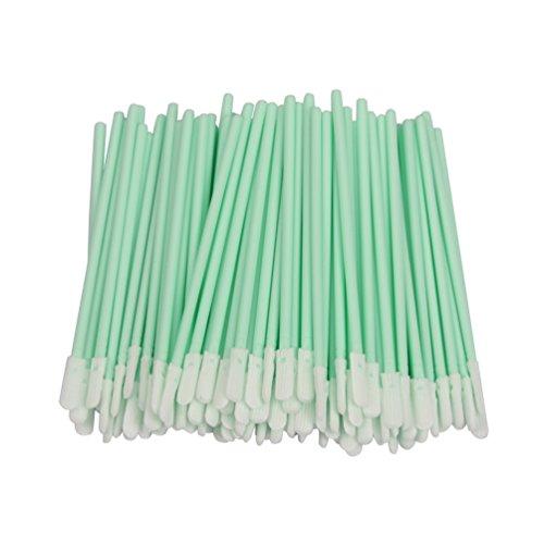 LOVEDAY Reinigungstupfer/-stäbchen mit doppelseitiger Polyesterspitze zur Reinigung von Tintenstrahldruckern, optischen Linsen, Automobil-Teilen, 6,9 cm, 100 Stück -