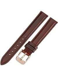 Daniel Wellington Damen-Uhrenarmband Classy St. Mawes Leder braun Schließe rosegold DW00200059