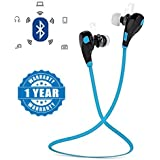 [Sponsored Products]Captcha Blue SPORTS Bluetooth Jogger Headset Wireless 4.0 Handfree Stereo Headphone Compatible With Xiaomi Mi, Apple, Samsung, Sony, Lenovo, Oppo, Vivo And ALL Other Smartphones (1 Year Warranty, Color May Vary)