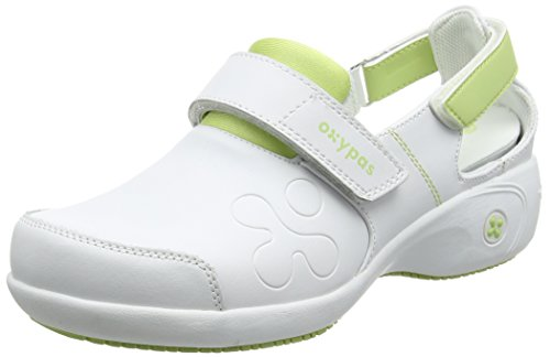 Oxypas Move Up Salma Slip-resistant, Antistatic Nursing Shoes, White/Grey (Light Grey), 5.5 UK (39 EU)