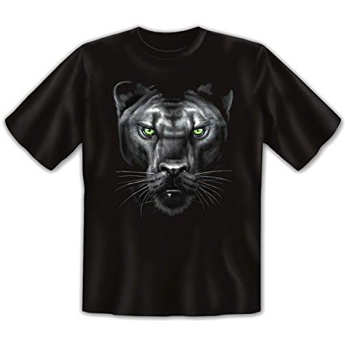 Wildlife - Damen und Herren T-Shirt mit dem Motiv: Majestic Panther Größe: Farbe: schwarz - von van Petersen Shirts Schwarz