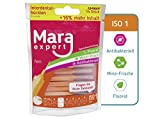 Cepillos Interdentales (Naranja de Mara Expert | 0,45mm ISO 1Fein | 12dientes dientes cepillo de limpieza para la interdental | con sabor a menta