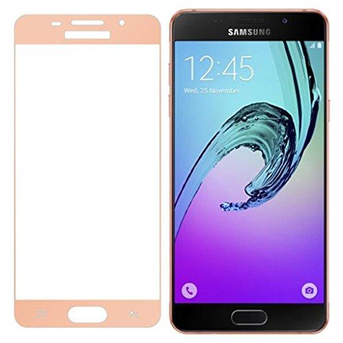 Granadatech Vetro temperato per Samsung Galaxy A3 (2016) d'oro [Copre Il Bordo Curvo dello Schermo] I Pellicola in Vetro, Pellicola Protettiva HD Trasparenza, Resistenza agli Urti
