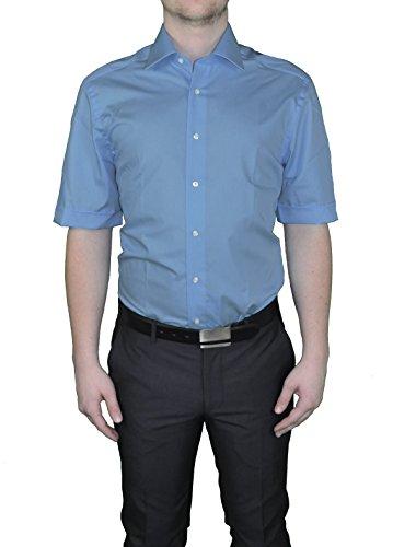 Bügelfreies chemise à manches courtes pour homme dans différents coloris, finition :  corps cUT marque rEDMOND (150910) Bleu - Blau(13)