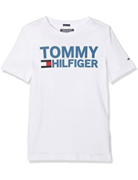 Tommy Hilfiger Essential Graphic tee S/S, Camiseta para Niños