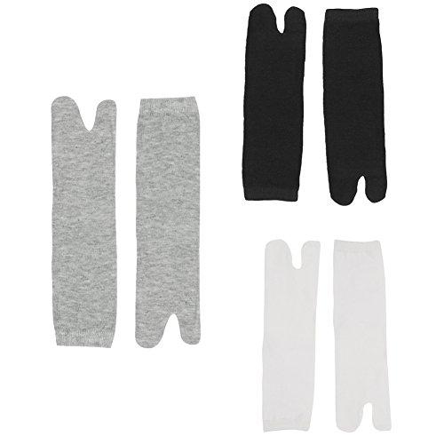 West See Herren 5 Paar Elastische 2 Zehen Socken Flip Flop Socken Tabi Socken Zehe Baumwolle