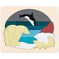 Hape - Puzzle encajable infantil capas Animales Ártico (Barrutoys E6522)