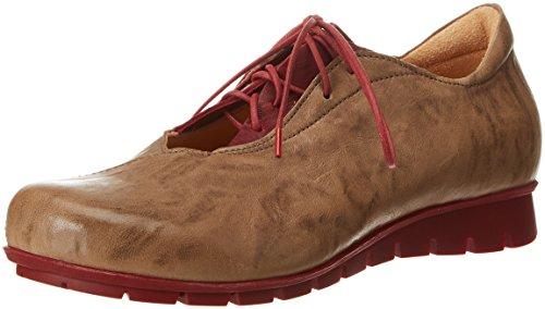 Think Menscha_282074, Derby Chaussures À Lacets Femme Marron (spotted / Kombi 25)