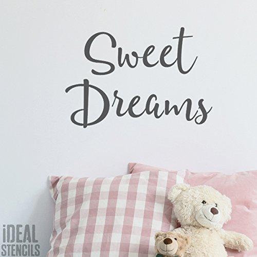 Sweet Dreams nurserie pochoir peinture nurserie décoration murale motif Pochoir pour les murs, Fabrics, meuble réutilisable - semi transparent pochoir, M/ 25X37CM