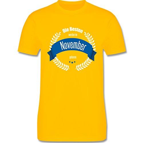 Geburtstag - Die Besten werden im November geboren - Herren Premium T-Shirt Gelb