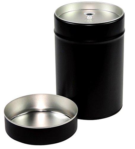 mikken - 2 x große Gewürzdose / Teedose rund & luftdicht mit Aromadeckel & 2 Etiketten, Kaffeedose...