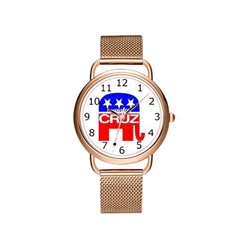 Reloj de Pulsera para Mujer con Correa de Malla Ultrafina, Resistente al...