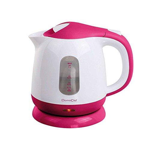 Bollitore elettrico 1litro cavo los filtro anticalcare estraibile 1100watt (spegnimento automatici, indicatore del livello dell' acqua, pink bianco)