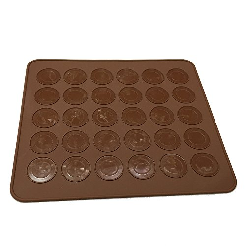 asentechuk® Rund Silikon Macaron Gebäck Backmatte Form DIY-Makronen Ofen Backblech