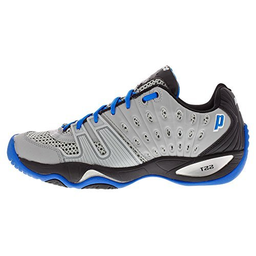 Prince T22 Scarpe da tennis uomo, grigio/nero/blu royal, Grey/Black/Royal