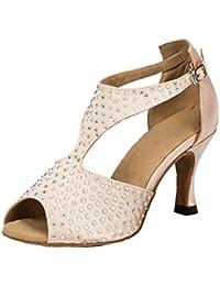 Minitoo - Chaussures Femme Avec Sangle De Cheville, Vert, Taille 36