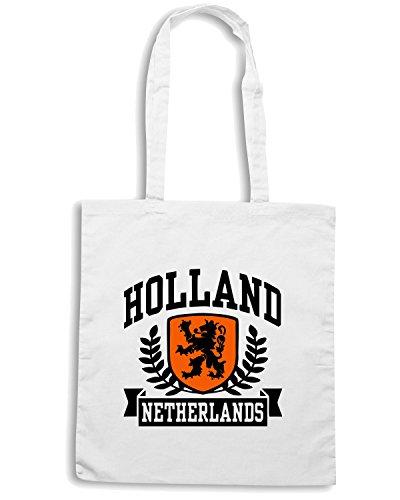 T-Shirtshock - Borsa Shopping TSTEM0043 holland netherlands ringer t Bianco